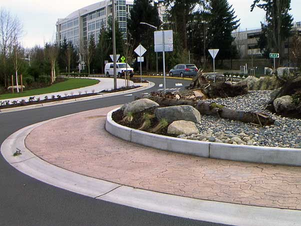 The 36th Street Bridge architectural decorative concrete project in Redmond, Washington was awarded to the Belarde Company.