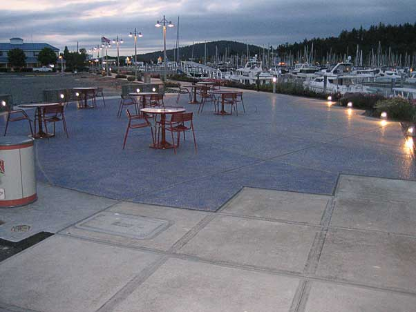 The Cap Sante Boat Haven architectural concrete in Anacortes, Washington near Seattle was awarded to the Belarde Company.