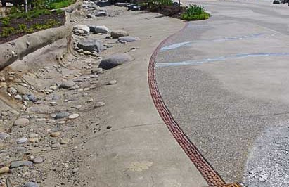 Architectural Decorative concrete - Lithocrete Sedimentary Concrete Walls Lithomosaic by Belarde Company - Seattle, Washington