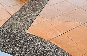 Architectural concrete, decorative concrete Lithocrete hand seeded aggregate by Belarde Company - Seattle, Washington
