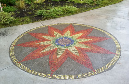 Lithomosaic , Architectural concrete, decorative concrete, by Belarde Company - Seattle, Washington