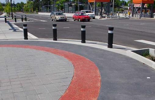 NE Burnside Improvements, Lithocrete, decorative concrete, architectural concrete, Belarde Company