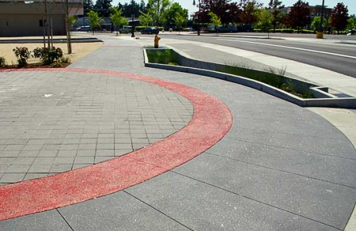 NE Burnside Improvements, Lithocrete, decorative concrete, architectural concrete, Belarde Company