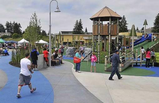 SERA Tacoma, Lithocrete, decorative concrete, architectural concrete, splash pad, sprayground, Belarde Company,