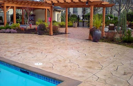 SeaTac Hilton, Bomanite, Stamped concrete, imprinted concrete, Architectural concrete, decorative concrete contractor, Belarde Company