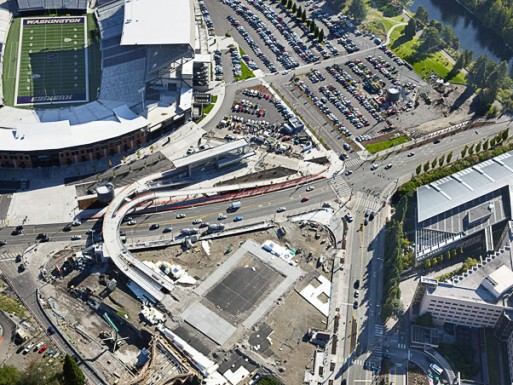 The Sound Transit University of Washington Station in Seattle was awarded to the Belarde Company as the structural concrete contractor.