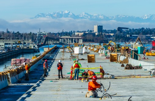 precast concrete, Belarde Company, Structural concrete, SR-520 Evergreen Floating Bridge, Seattle