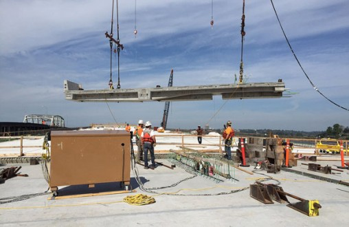 precast concrete, Belarde Company, Structural concrete, SR-520 Evergreen Floating Bridge, Seattle