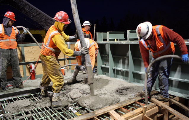 Construction Jobs increase in Washington state