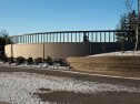 Architectural concrete, decorative concrete, Lithocrete, Bomanite, sedimentary walls by Belarde Company, Seattle, Washington