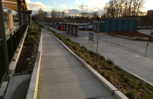 Sound Transit Tukwila Sounder Station.  PCC paving, site work, stairs, walls, ramps, curbs by the Belarde Company