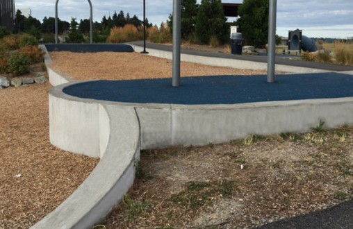 Decorative Architectural Lithocrete concrete spray park pervious concrete by Belarde Company Beacon Mountain Park Seattle, Washington