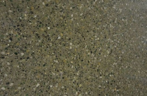 Epoxied exposed aggregate concrete, customized polished finish, concrete, interior concrete flooring, decorative concrete, architectural concrete, by Belarde Company, Seattle