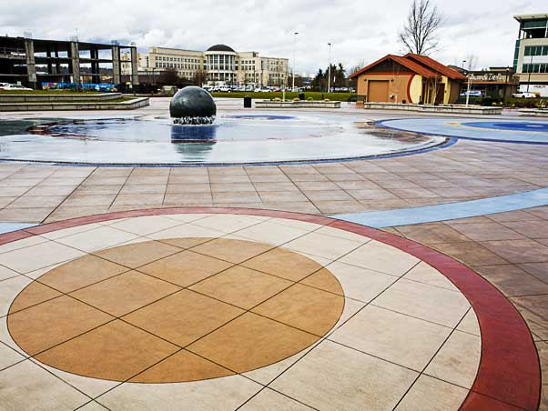 The award-winning Kent Town Center architectural concrete project in Kent, was created by the Belarde Company