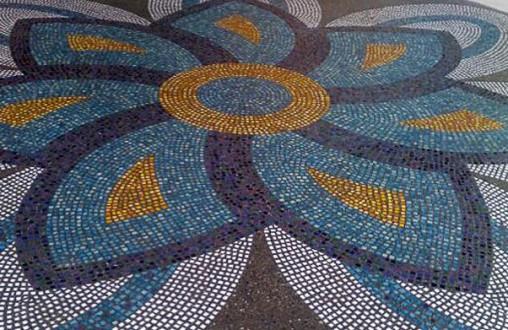 Lithomosaic , Architectural concrete, decorative concrete, by Belarde Company - Seattle, Washington