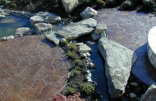 Bomanite, imprinted concrete, stamped concrete, decorative concrete, architectural concrete, Belarde Company, Seattle