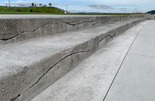 Belarde Company, Architectural Concrete, Decorative Concrete, Sedimentary Walls, Dune Peninsula, Tacoma Metro Parks