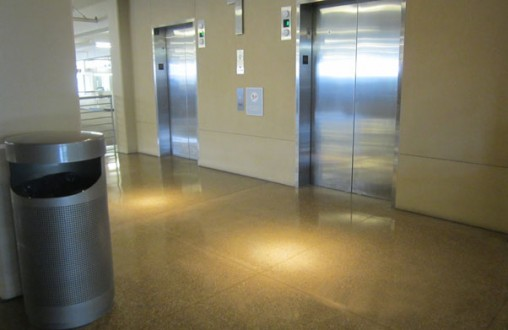 Epoxied exposed aggregate concrete, customized polished finish, concrete, interior concrete flooring, decorative concrete, architectural concrete, by Belarde Company, Seattle
