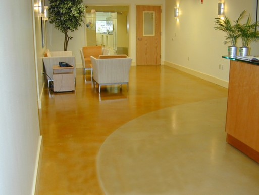 Interior decorative concrete, Stained toppings, architectural concrete, Belarde Company, Seattle